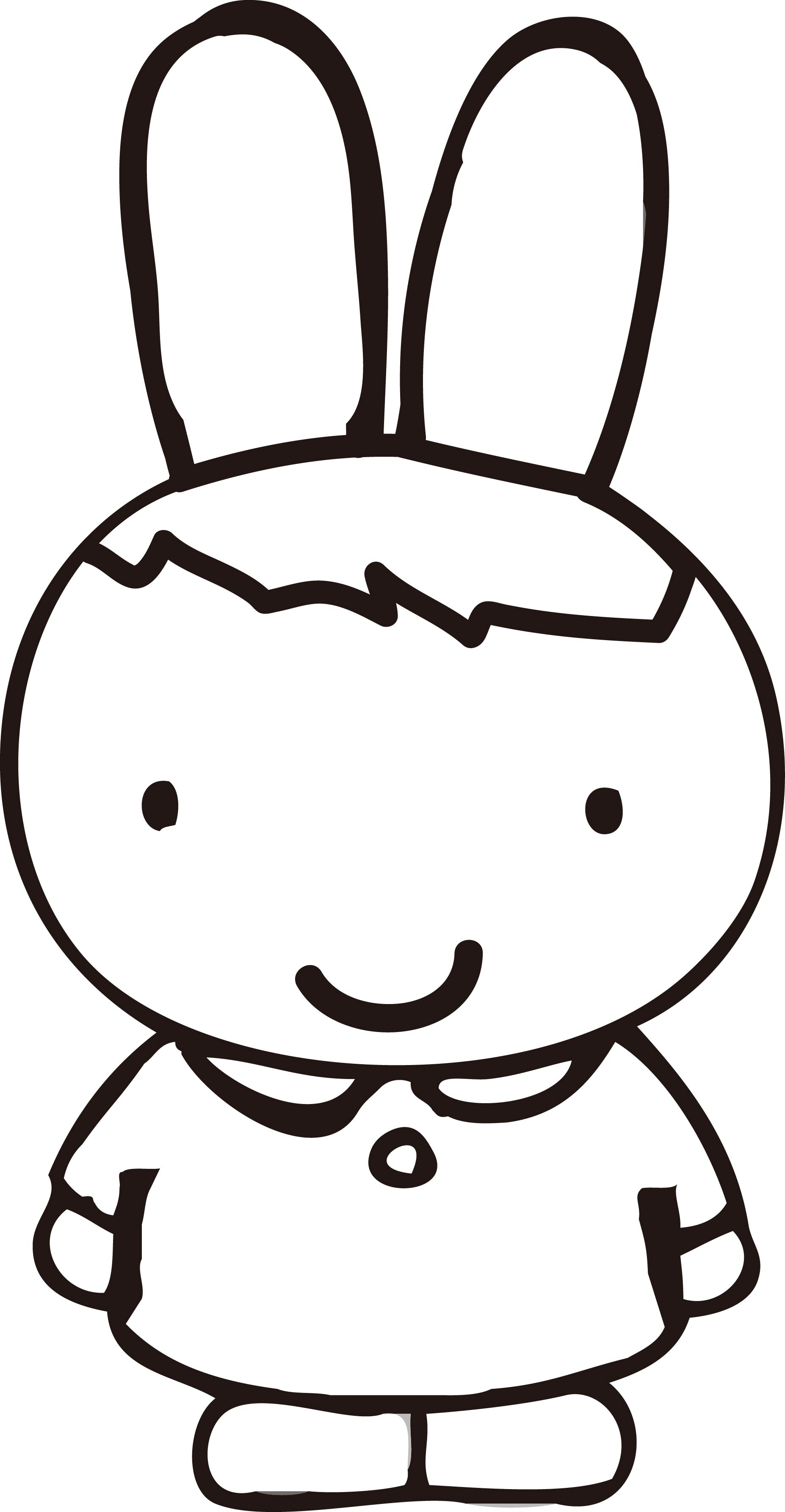 Cute Rabbit Goes To School Coloring Pages