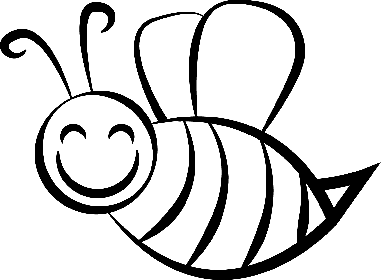 Bee coloring page for Bees coloring pages
