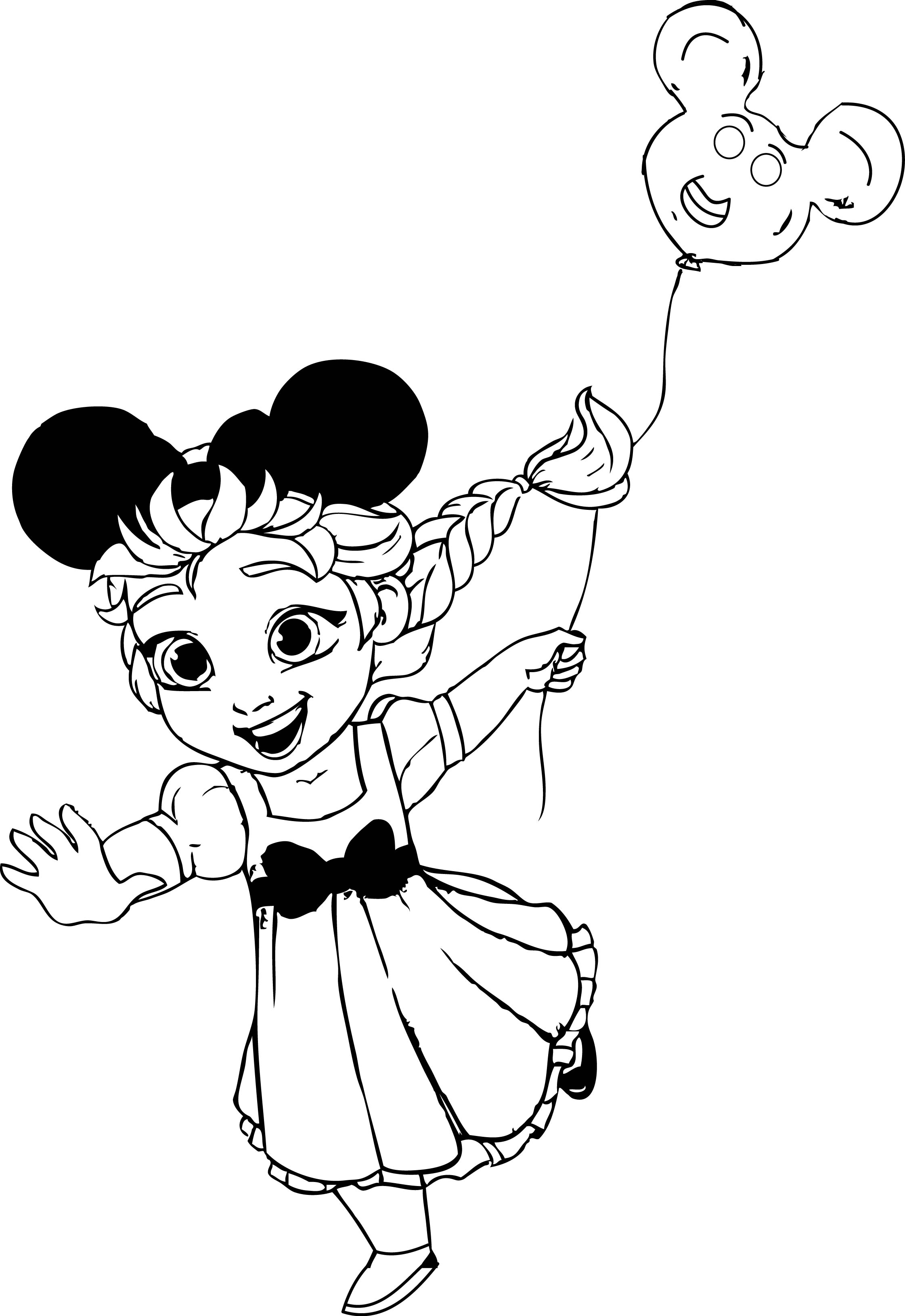 Elsa At Disneyland Coloring Page