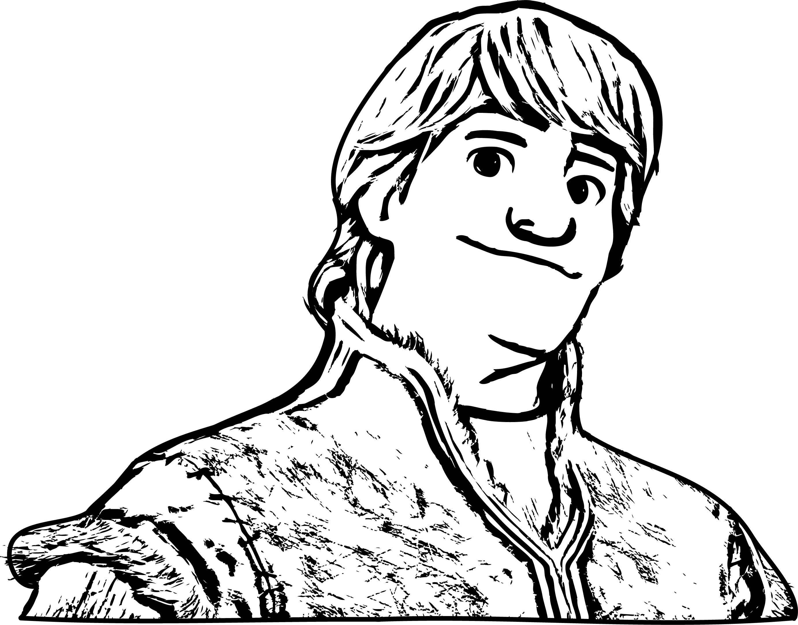 Frozen kristoff coloring page for Sven coloring pages