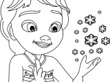 Frozen Magic Snow Children Elsa Coloring Page