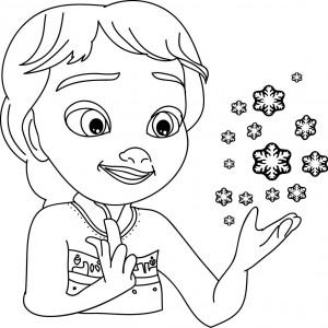 Frozen-Magic-Snow-Children-Elsa-Coloring-Page