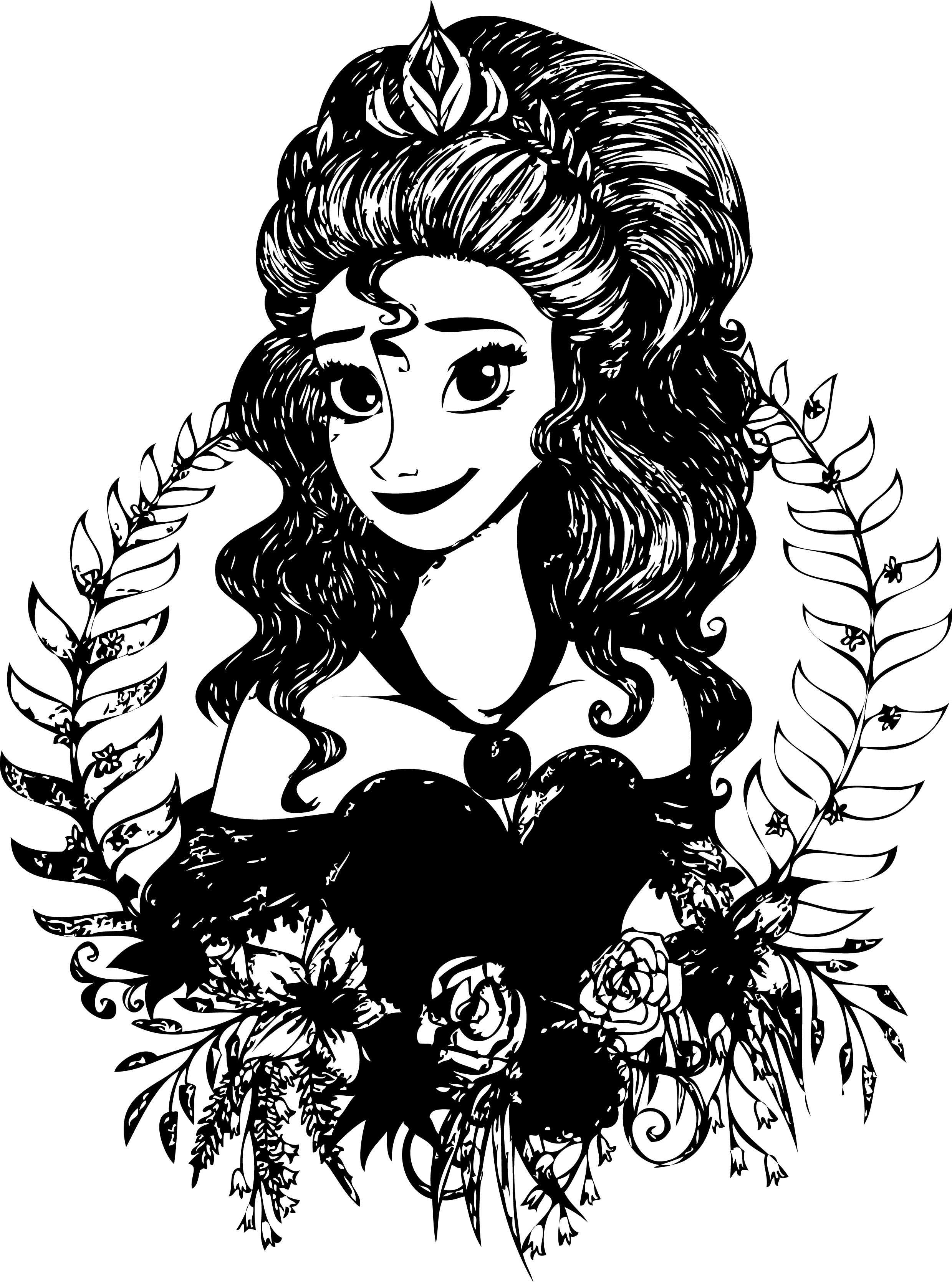 Princess Anna Cindy Coloring Page