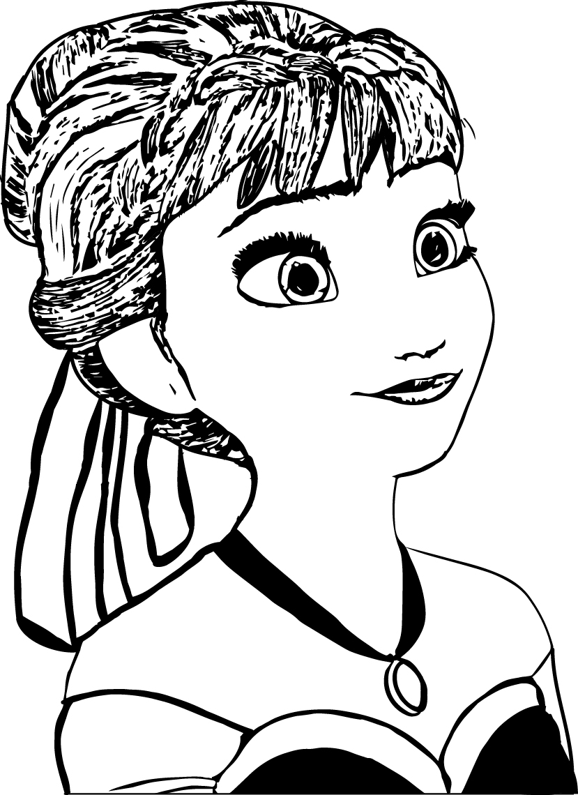anna coloring page - Elsa And Anna Coloring Pages