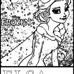 elsa frozen the snow coloring page printable sheet
