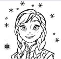 Anna Listen Coloring Page