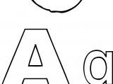 A Alphabet Apple Coloring Page