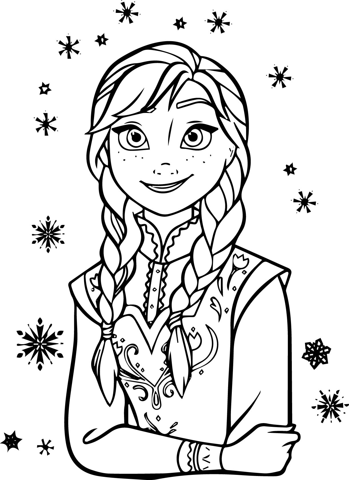 Anna And Elsa Coloring Pages Anna Listen Coloring Page  Wecoloringpage