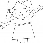 Child Girl Coloring Page