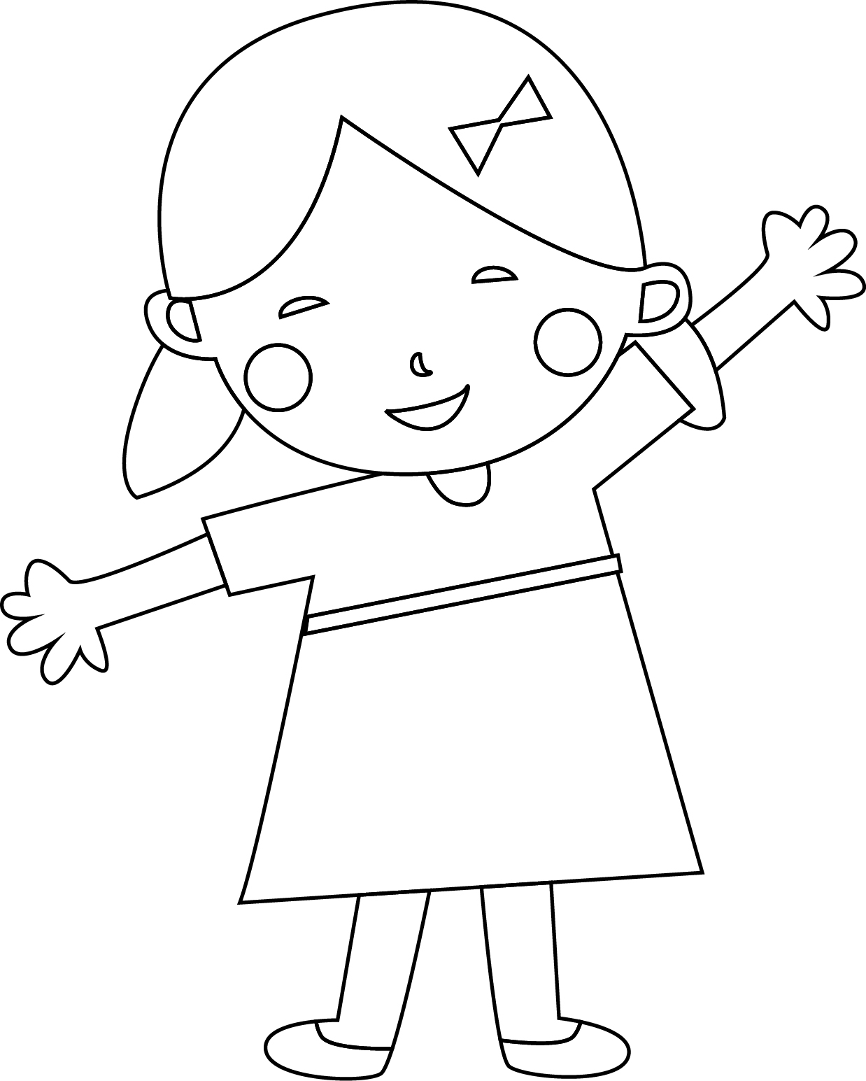 Child coloring page for Photo to coloring page