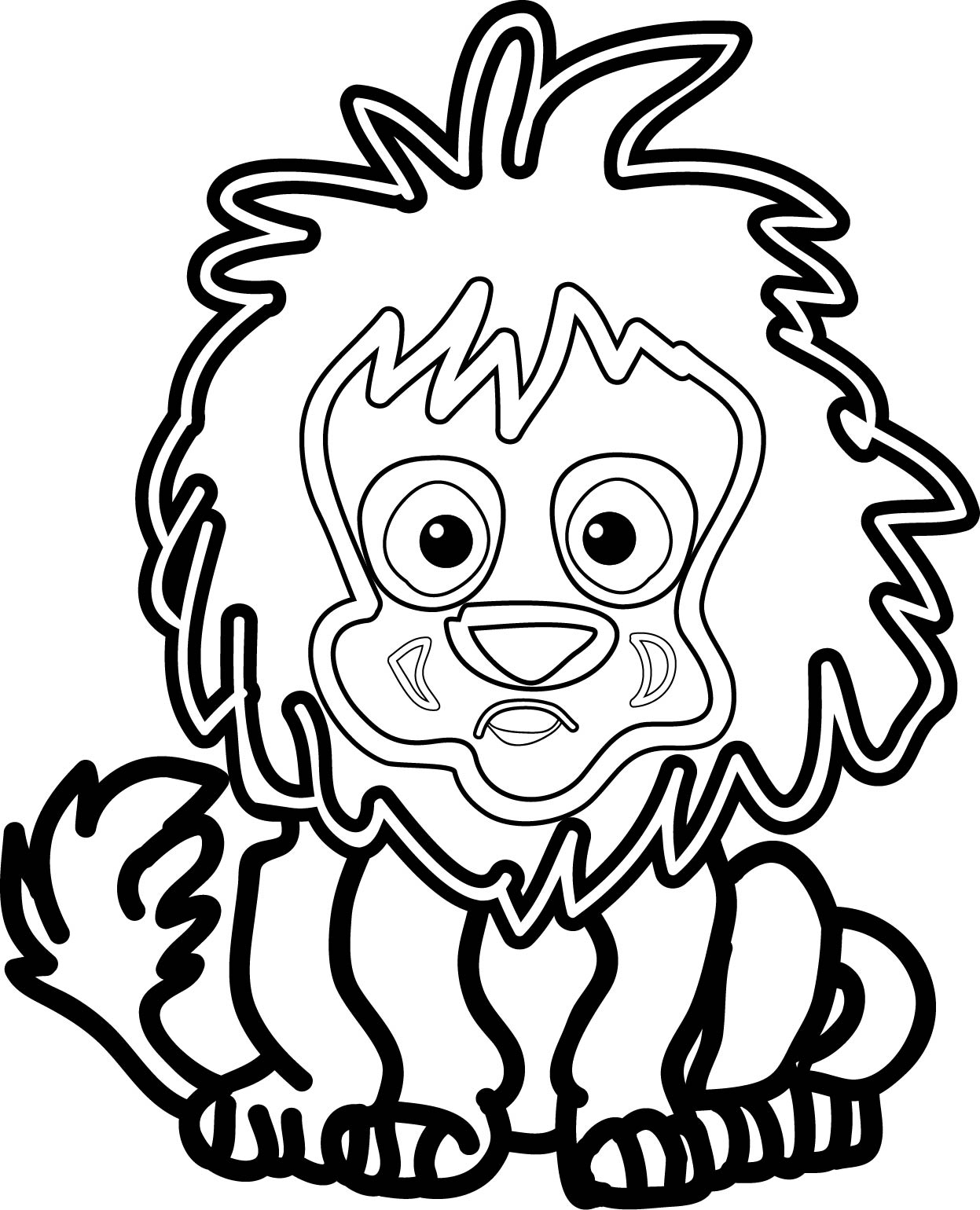 Cute Leon Coloring Page