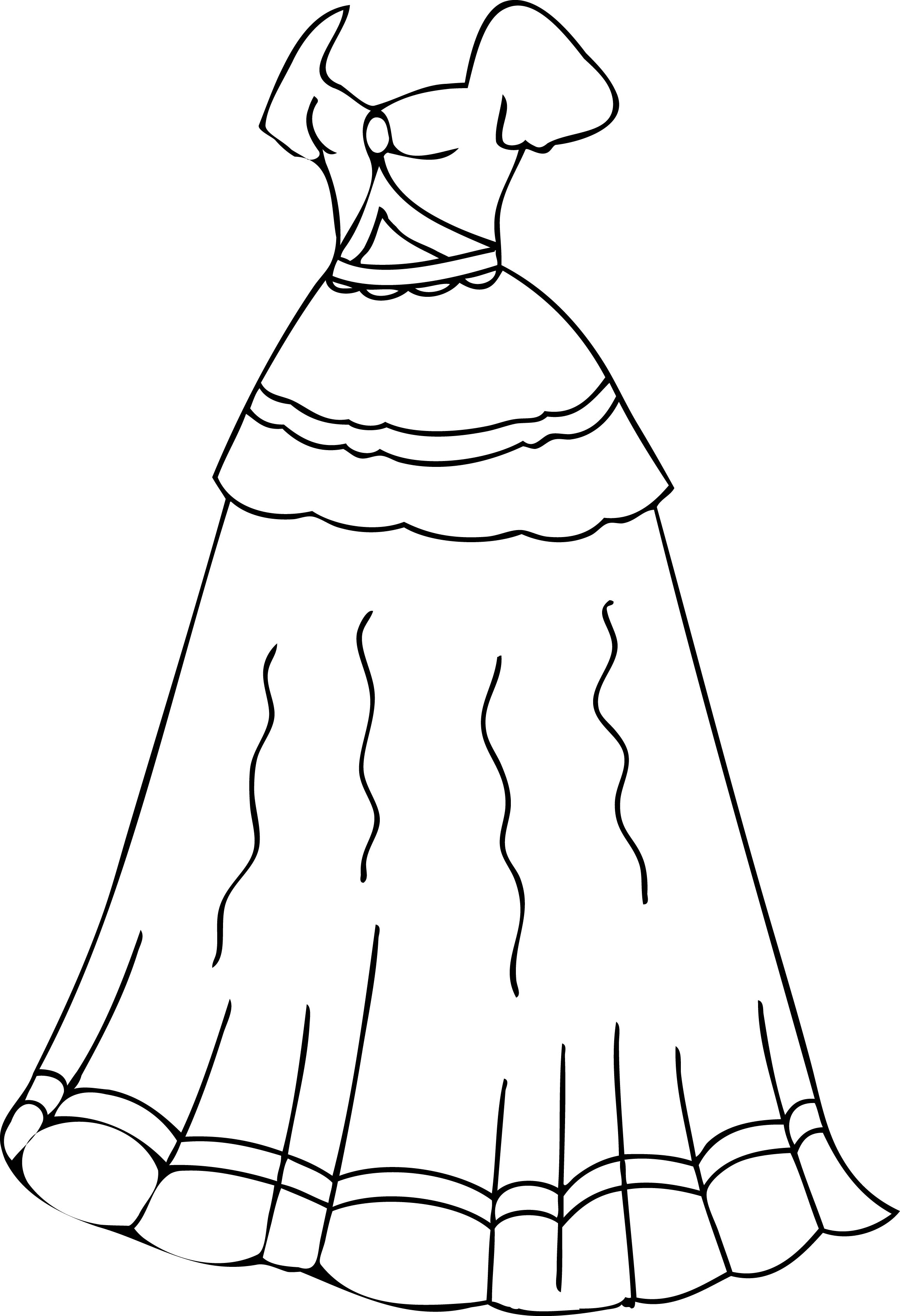 Dress Coloring Pages Printable Wecoloringpage