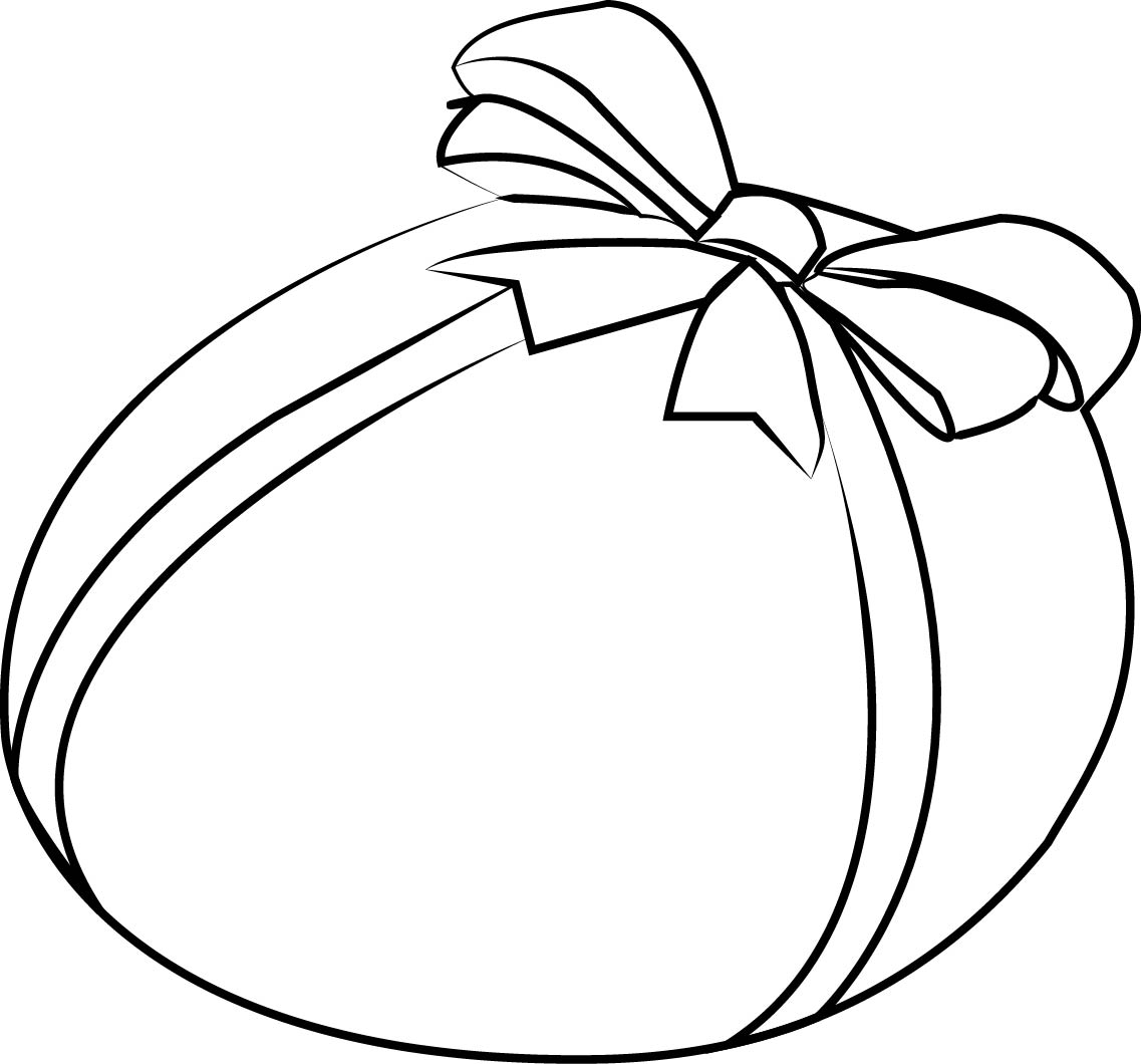 Easter Egg Gift Coloring Page
