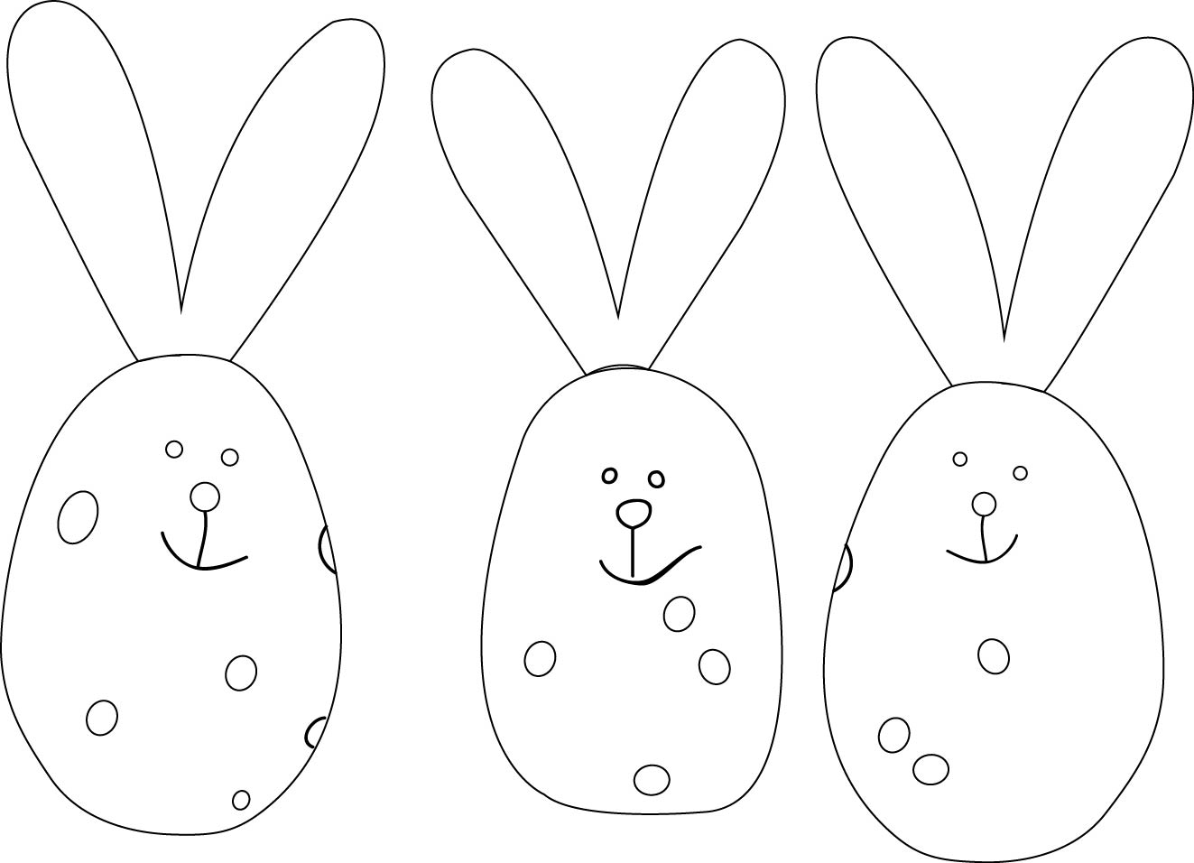Easter rabbit eggs coloring page