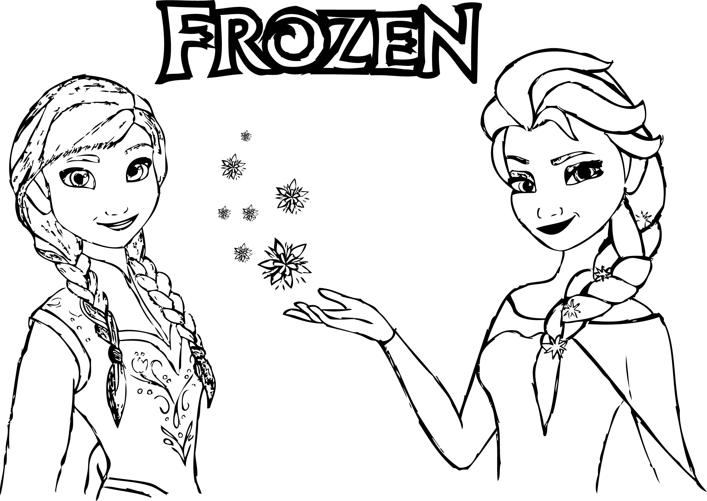 Anna And Elsa Coloring Pages Frozen Anna Elsa Magic Coloring  Wecoloringpage
