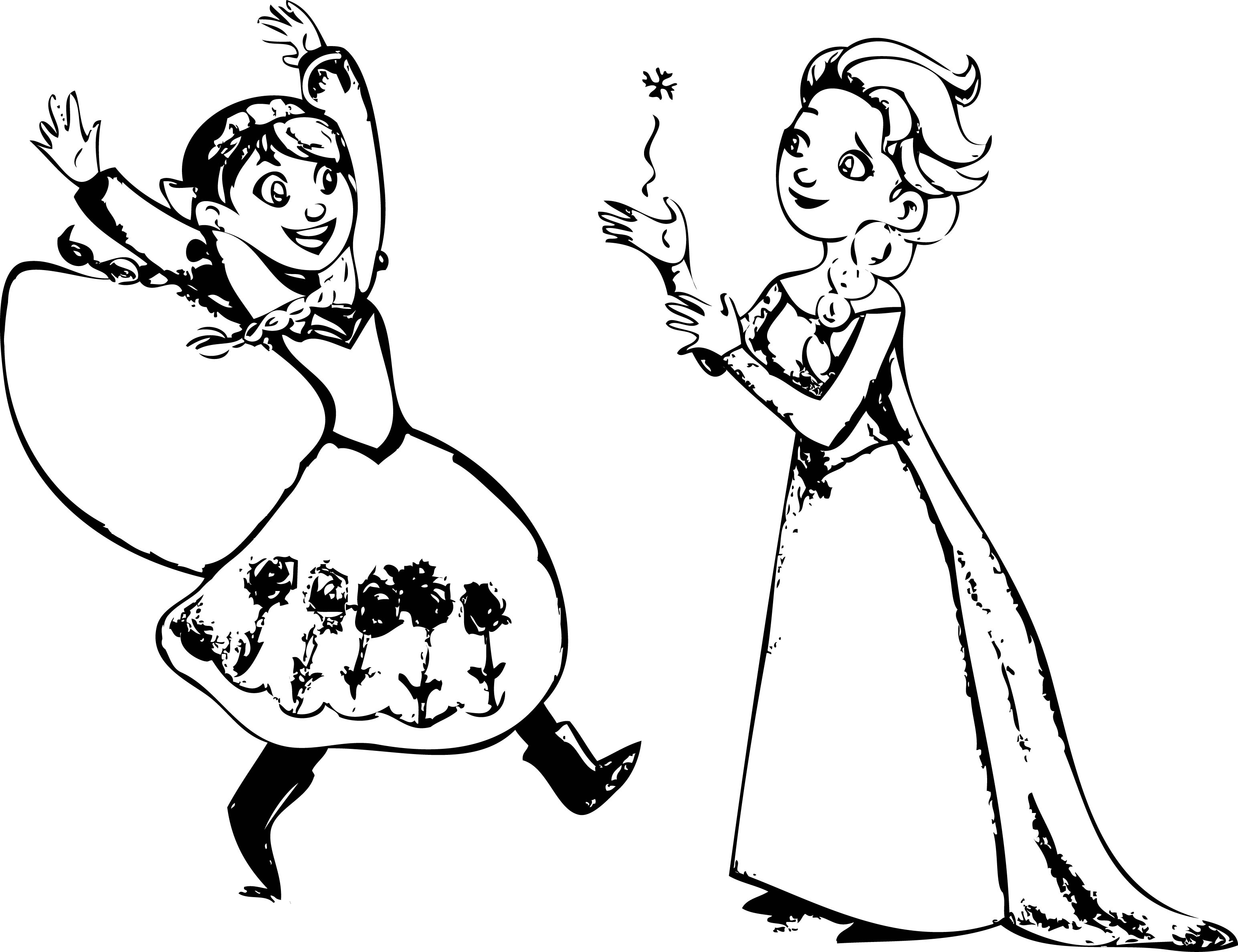 frozen cartoon characters coloring pages - photo#27
