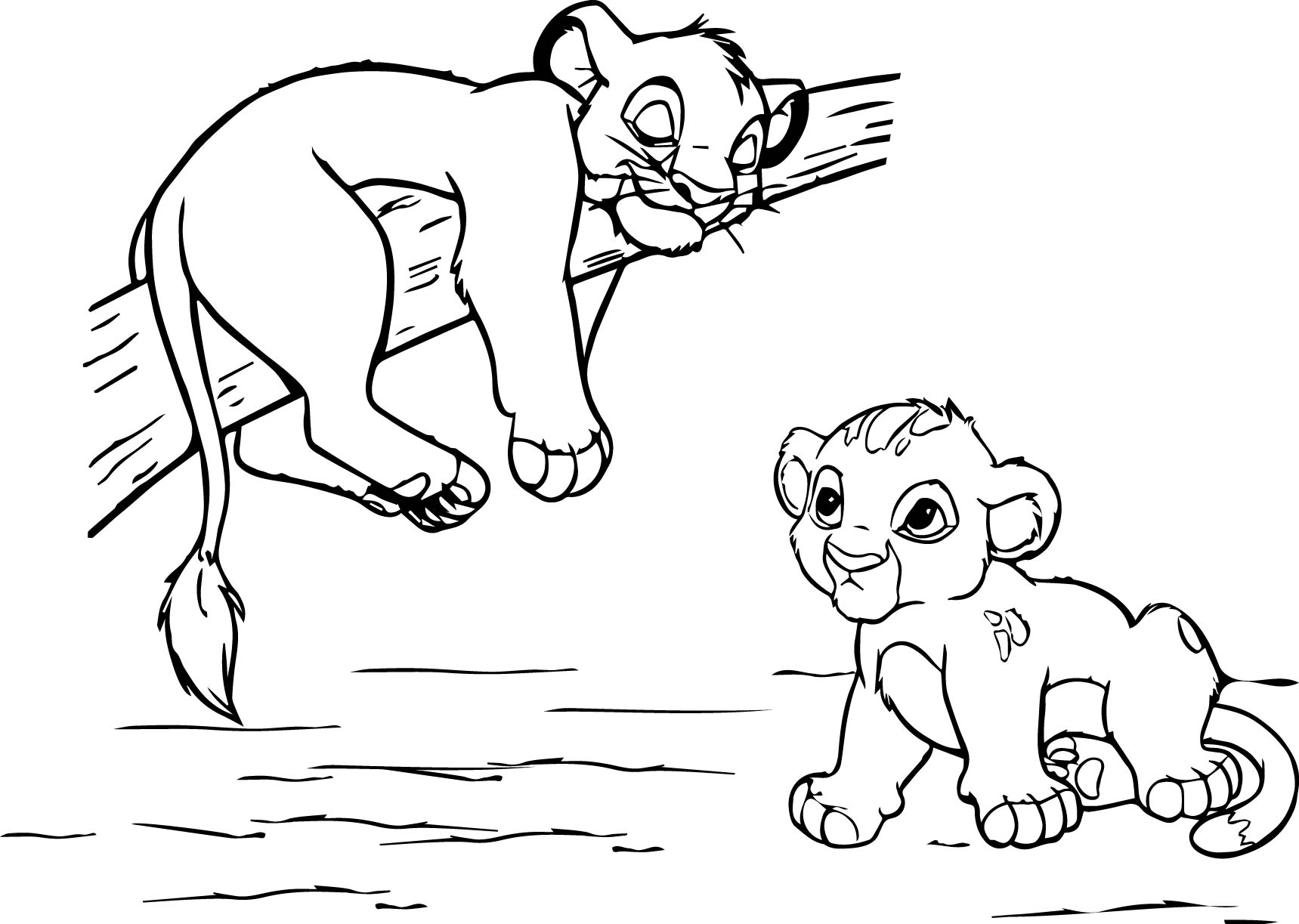 Coloring pages lion - Lion King Coloring Page