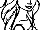 Open Hair Elsa Coloring Page