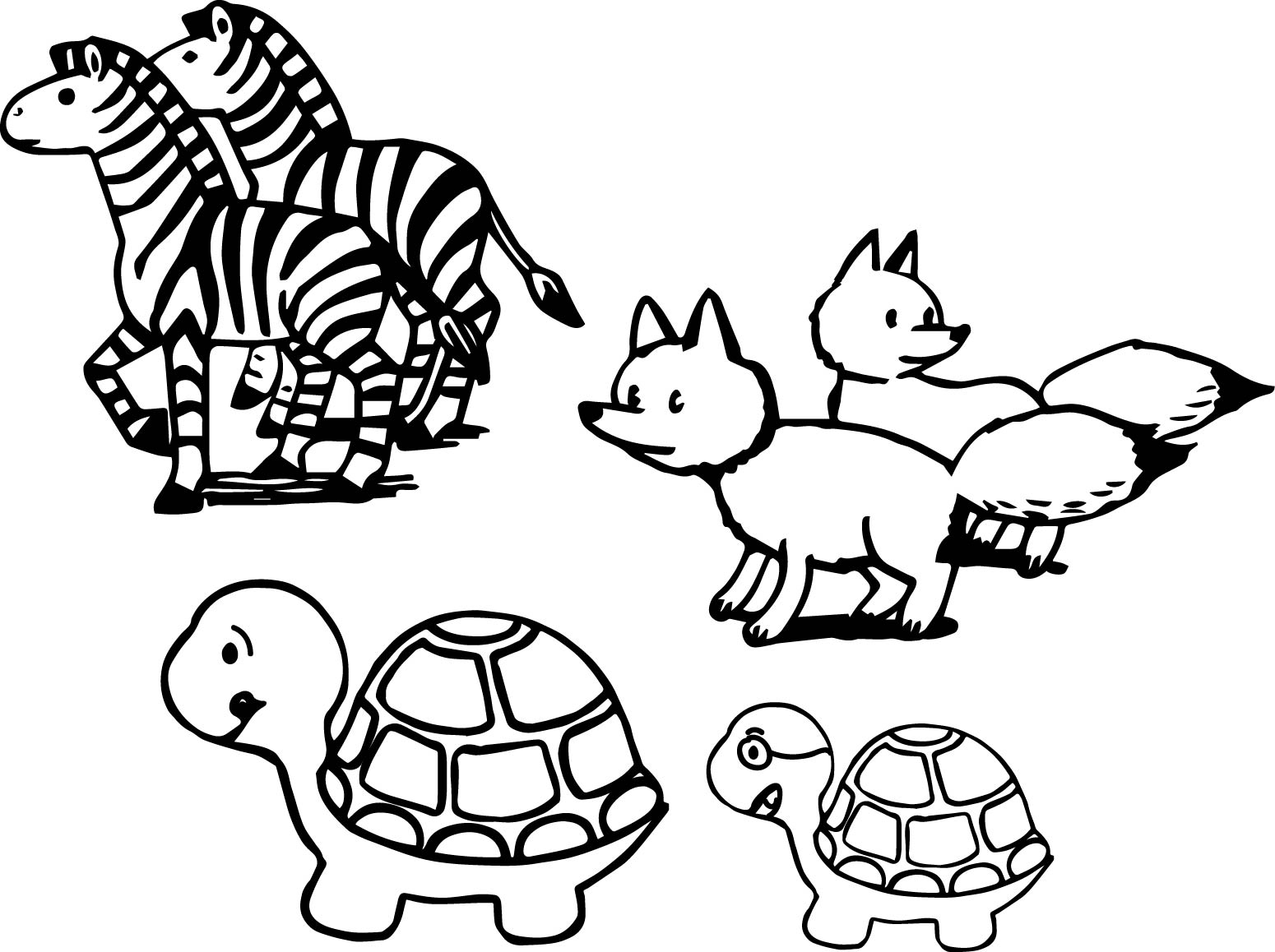 perfect animals coloring pages