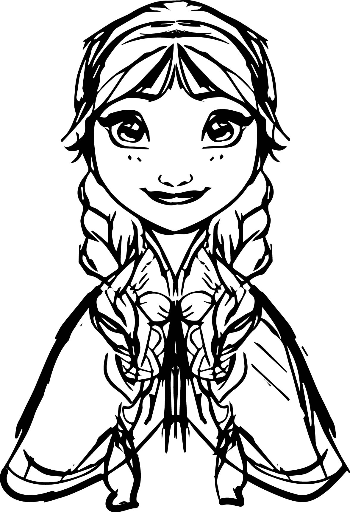 Village Frozen Coloring Page