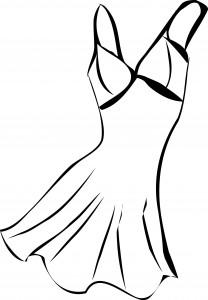 Vintage Dress Coloring Page