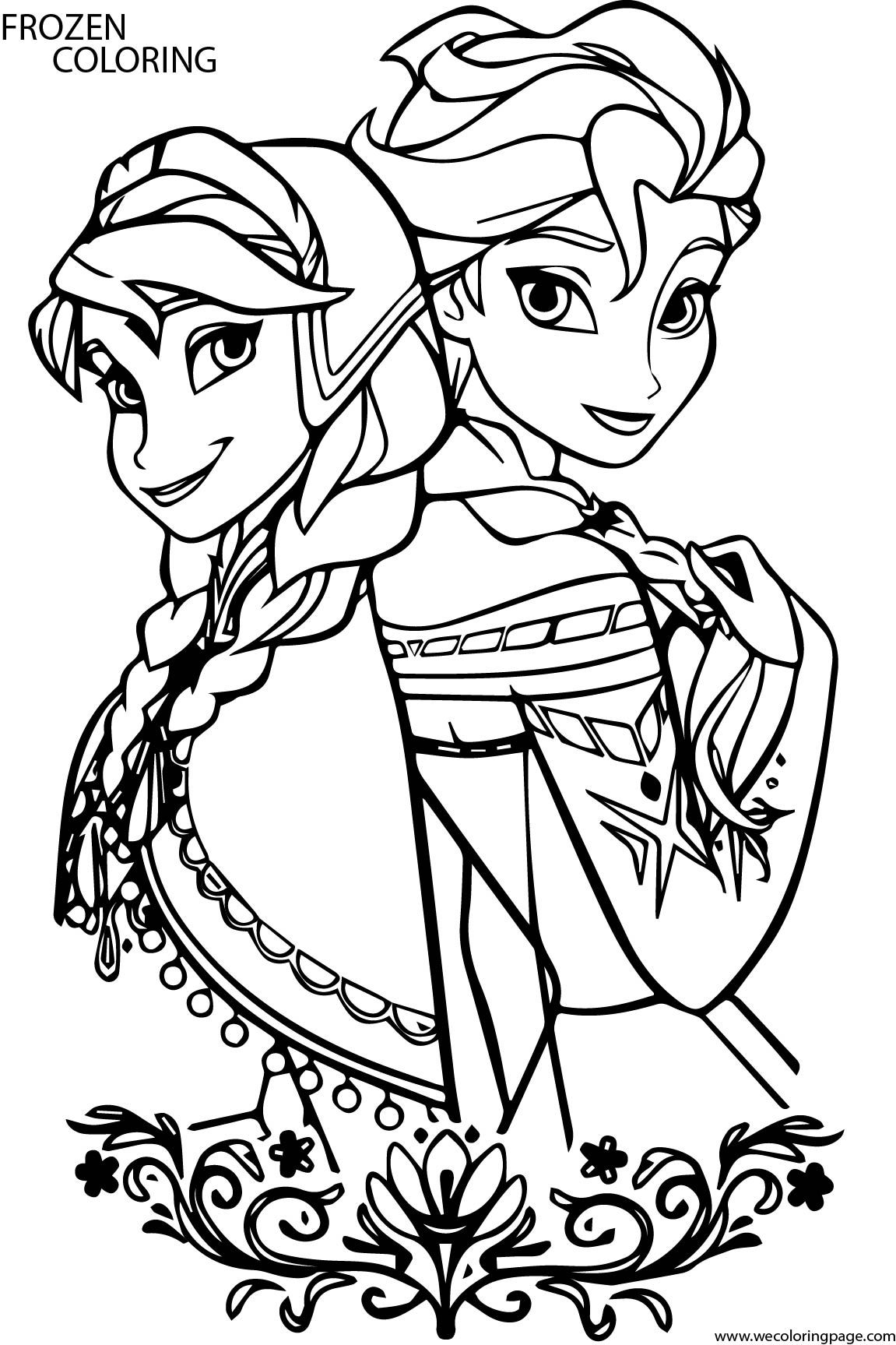 Wecoloringpage frozen for Frozen coloring pages free