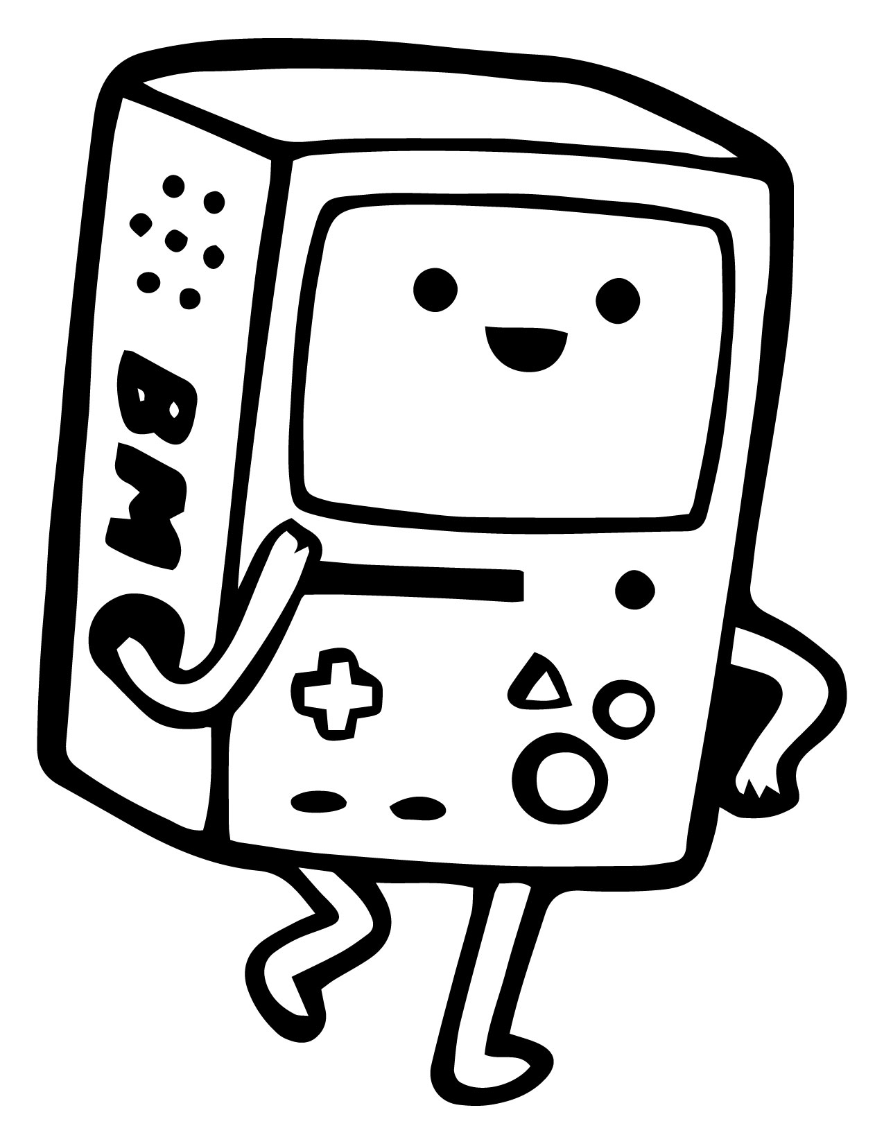 Adventure Time Television Cartoon Coloring Page