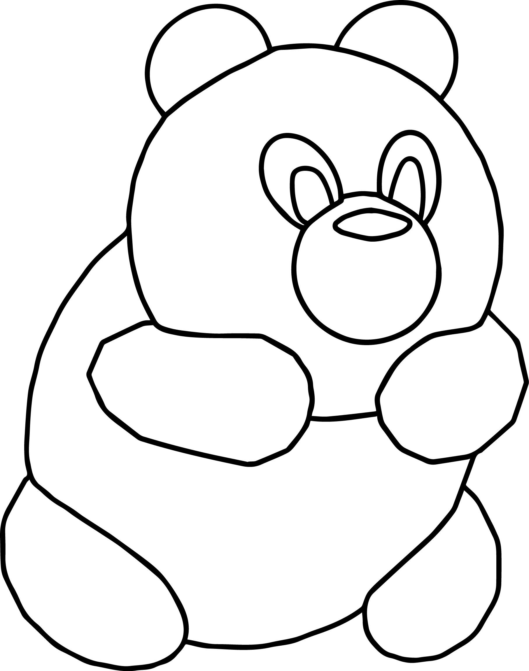 Bear Cartoon Animal Coloring Page