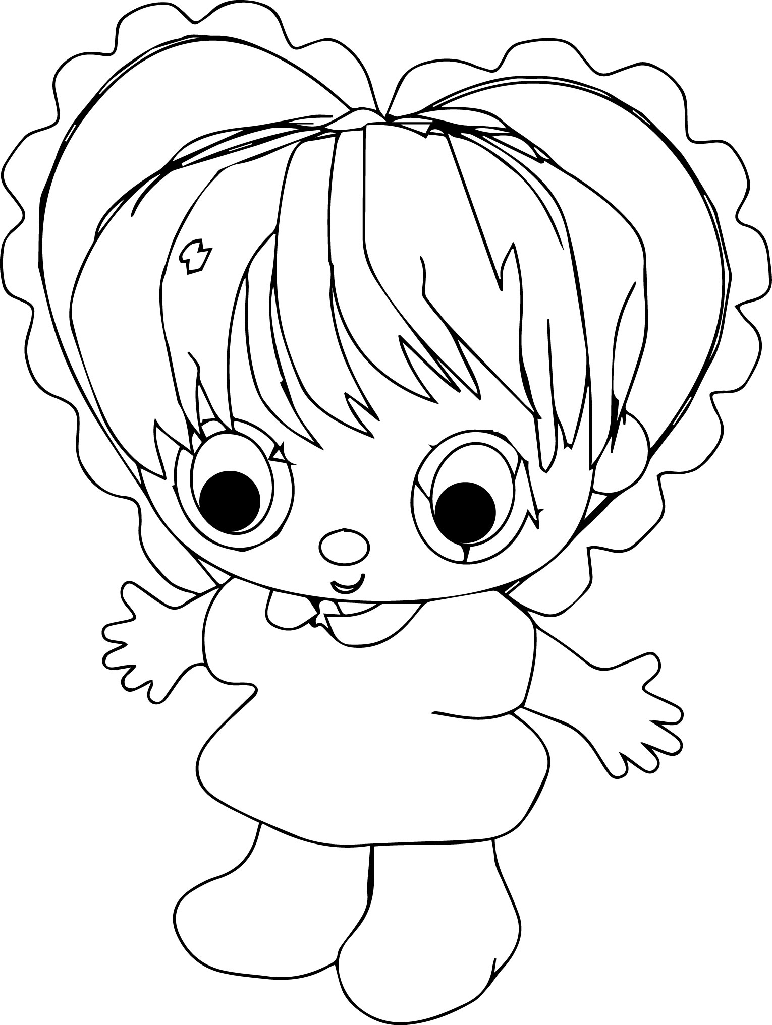Heart Baby Coloring Page