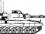 Leopard 2A4 Coloring Page