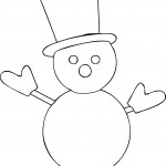 Snow Man Coloring Page