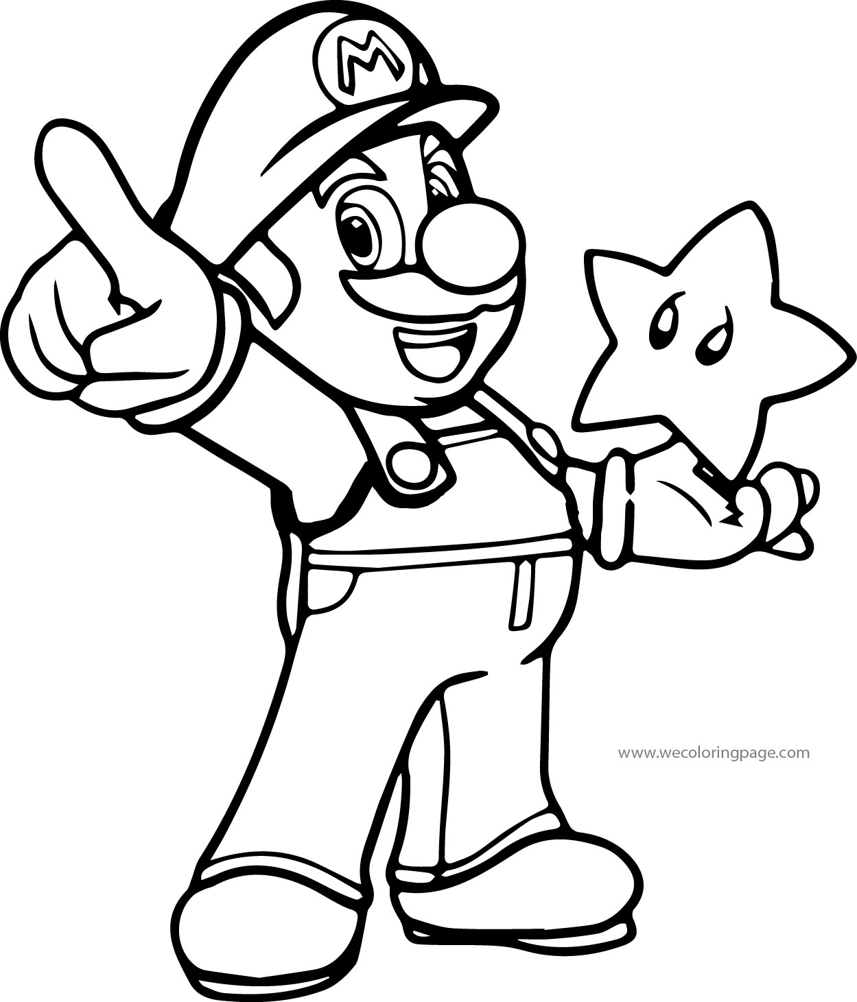 mario color page super mario coloring page