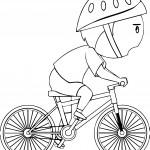 Boy On Bike Coloring Page