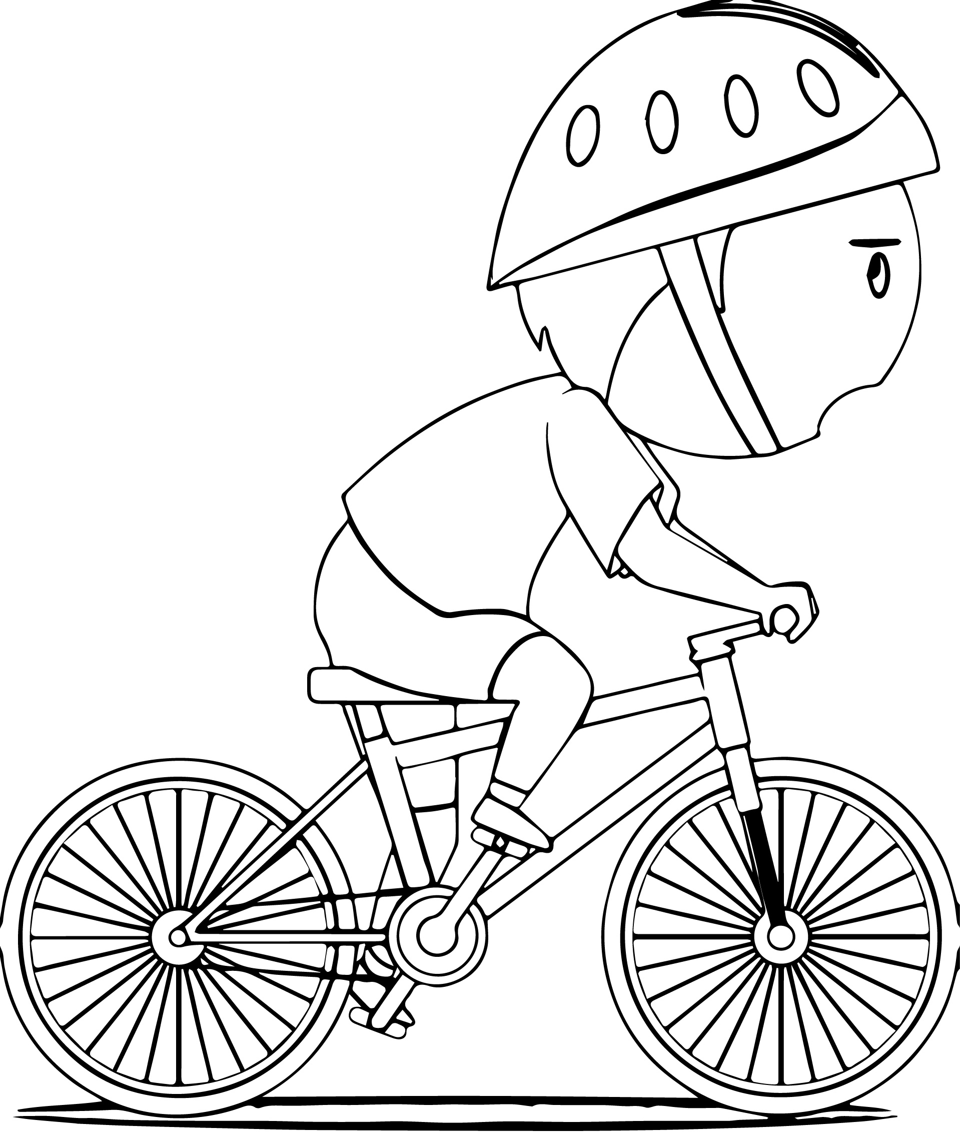 Biycle Coloring Pages