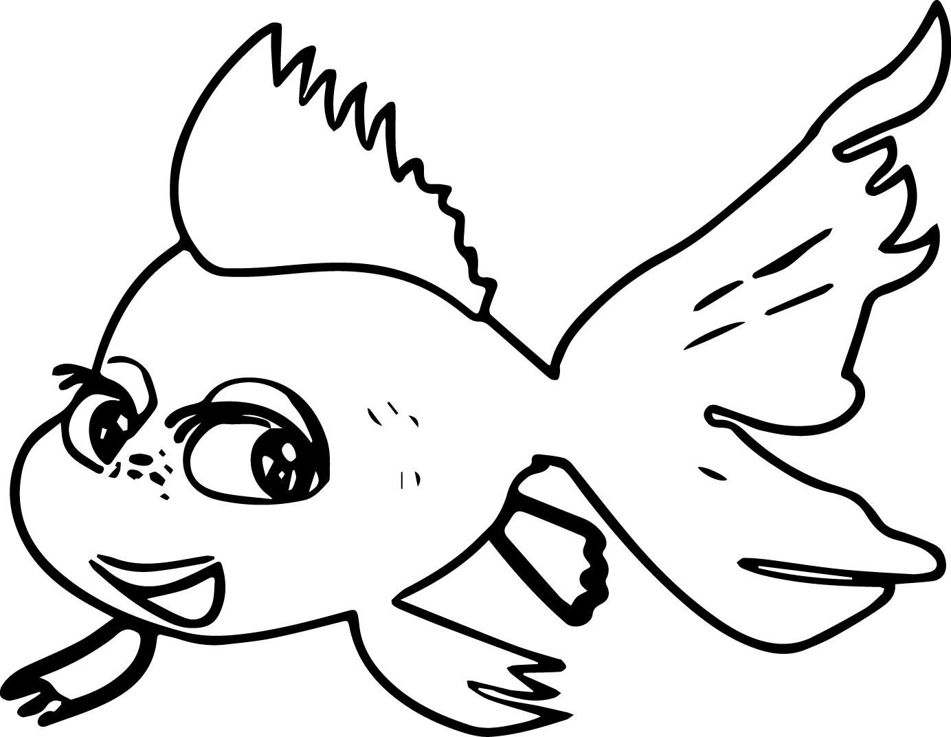 cartoon fish coloring page wecoloringpage