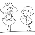 Children Girl Coloring Page