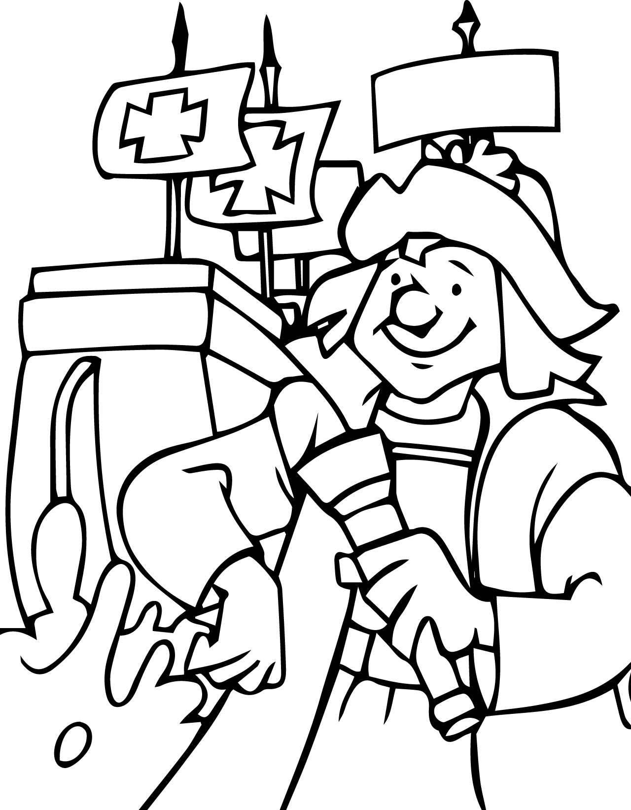 Christopher columbus coloring pages for Columbus coloring page