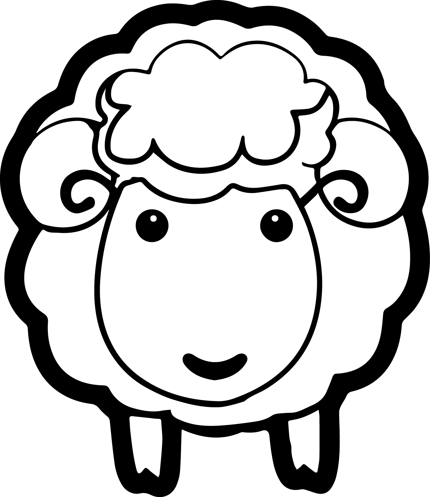 sheep coloring pages wecoloringpage