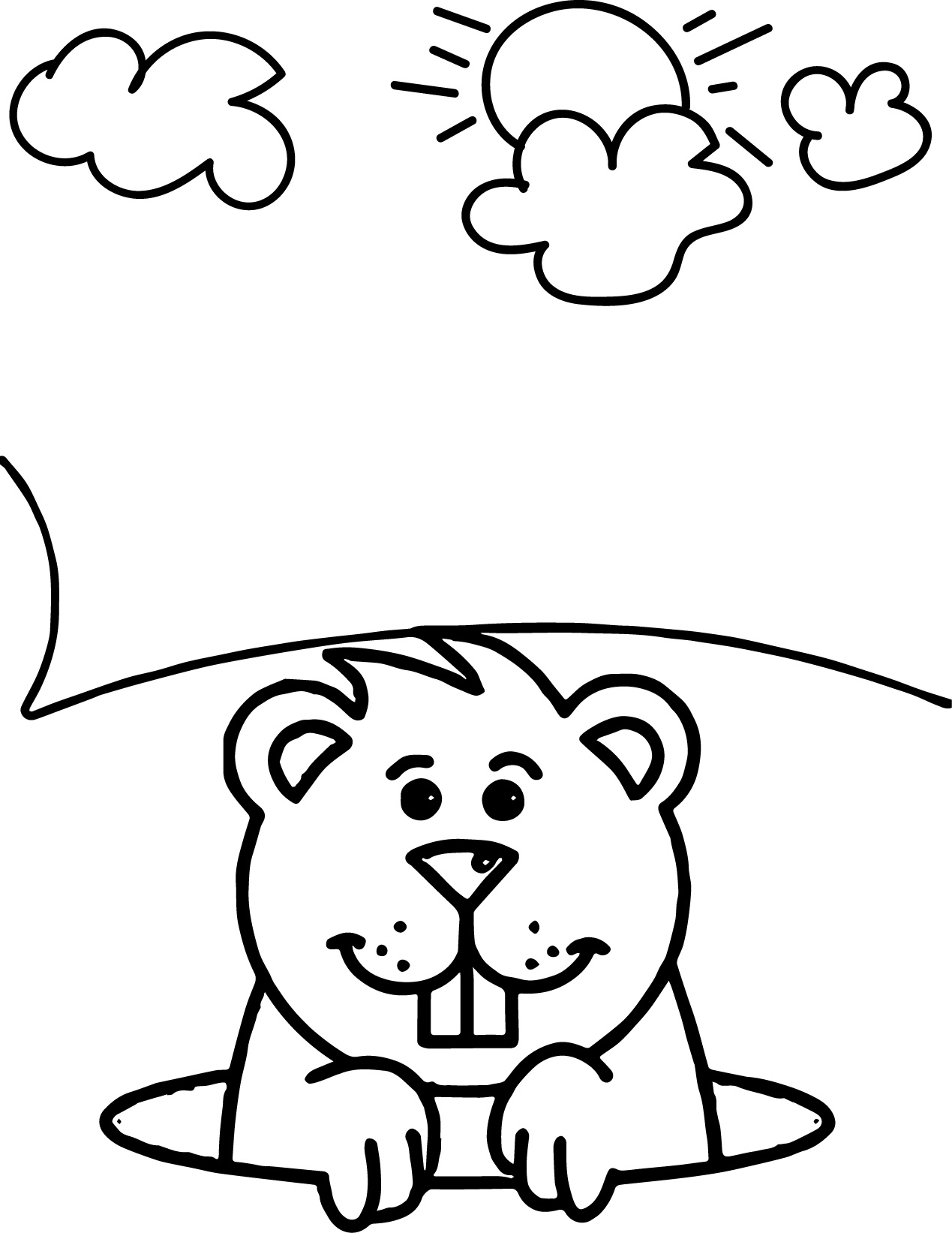 groundhog coloring pages or sheets wecoloringpage