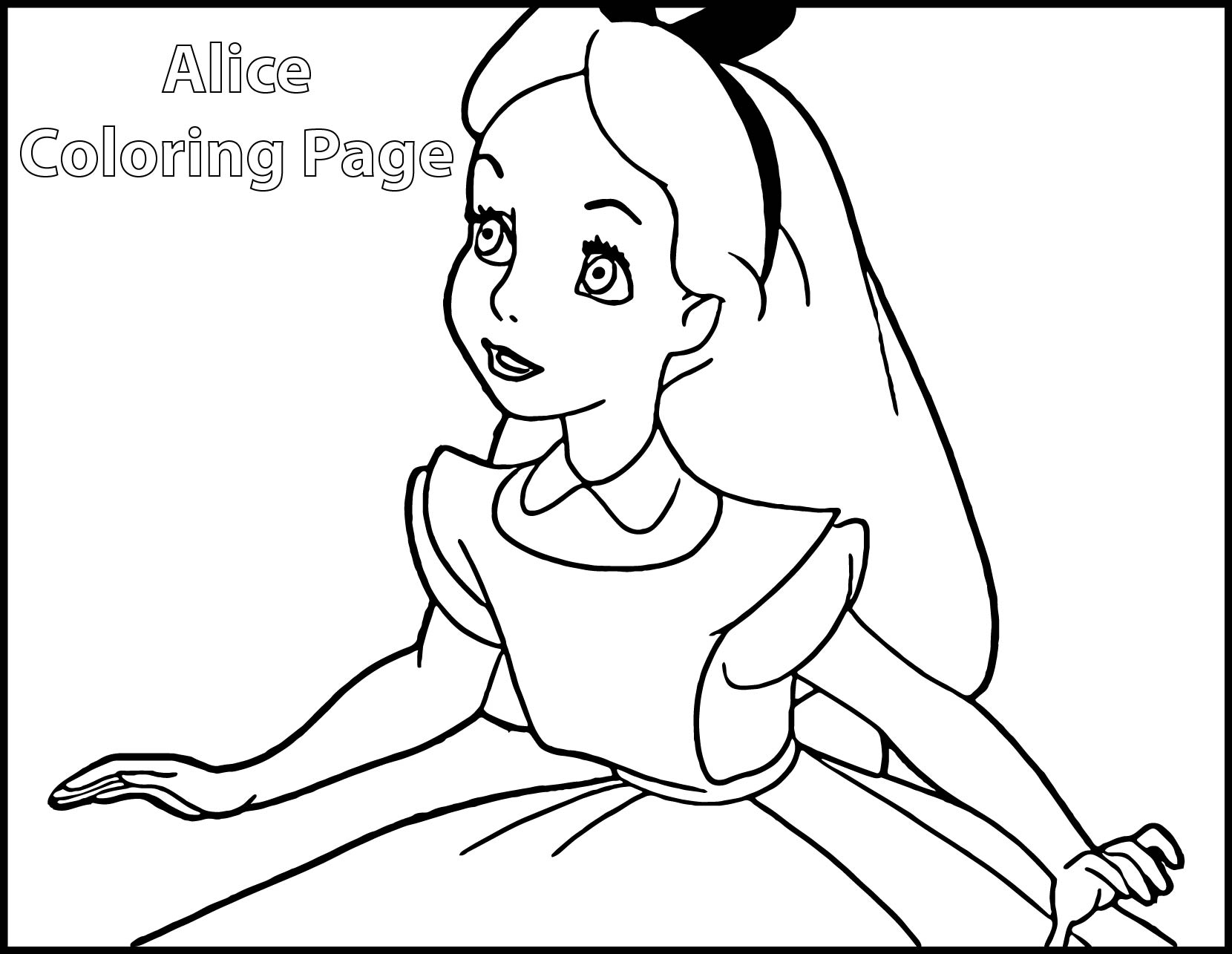 Alice In Wonderland Coloring Pages | Wecoloringpage