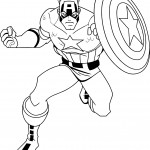 Captain america cartoon coloring page