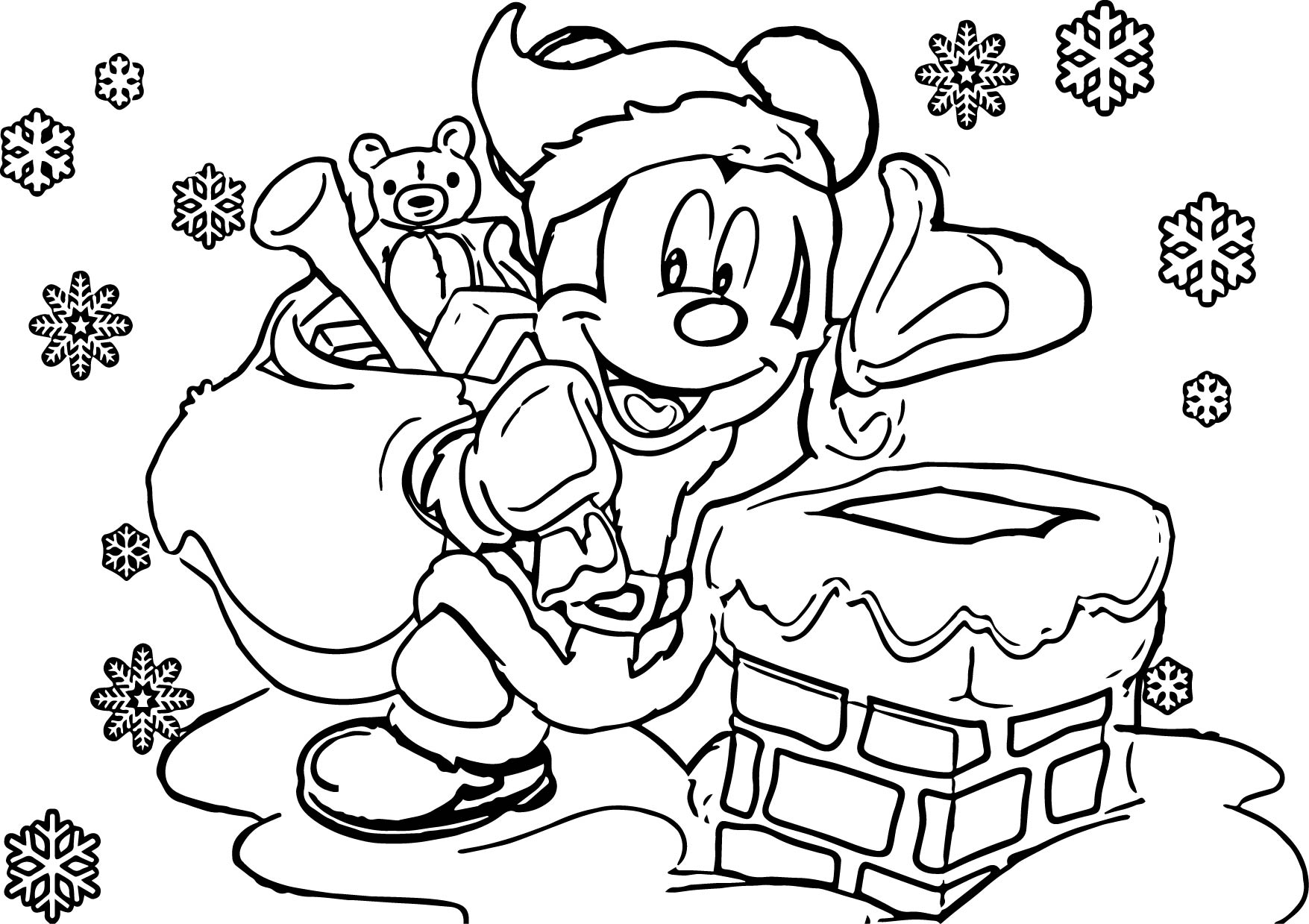 xmas disney coloring pages - photo#21