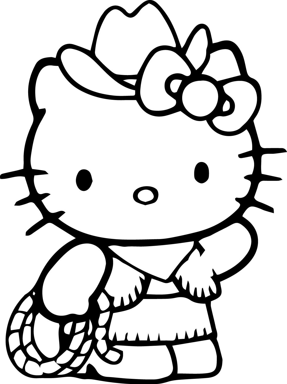 hello kitty coloring pages - Kitty Coloring Pages