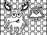 Moose A. Moose Noggin Coloring Pages
