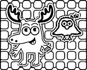 Moose a moose coloring page