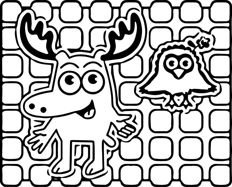 Moose A. Moose Noggin Coloring Pages