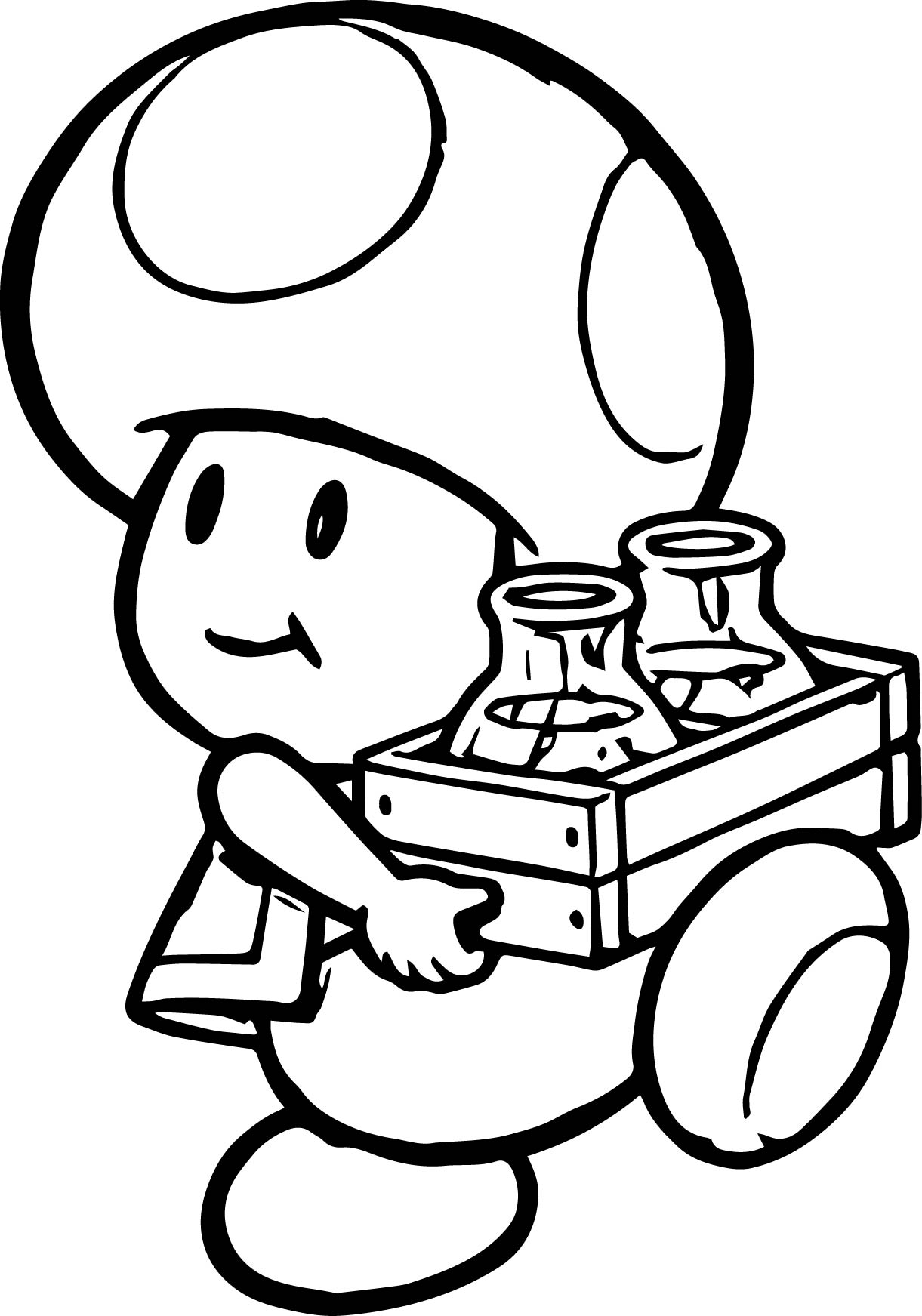 Nintendo coloring pages - Coloriage toad ...
