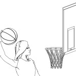 Woman Basketball Player Coloring Page