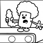 Wow Wow Wubbzy Shocking Coloring Page