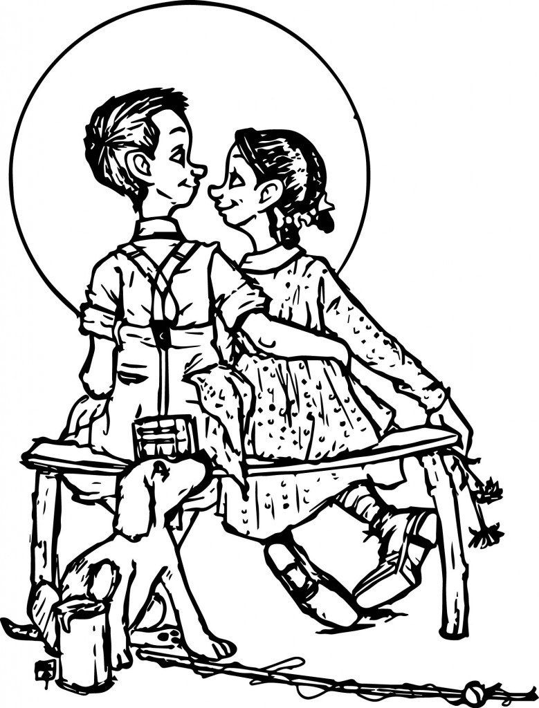 norman rockwell coloring pages - photo#12